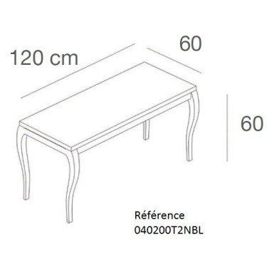 Table Gigogne L.120 x P.60, table de presentation marchande, mobilier pour magasin, agencement de magasin, equipement magasin mo