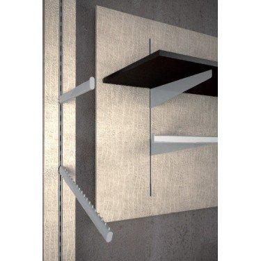 Couple support etagère Bois avec support Barre de Penderie finition des accessoires ou accastillage de mobilier pour magasin Lin