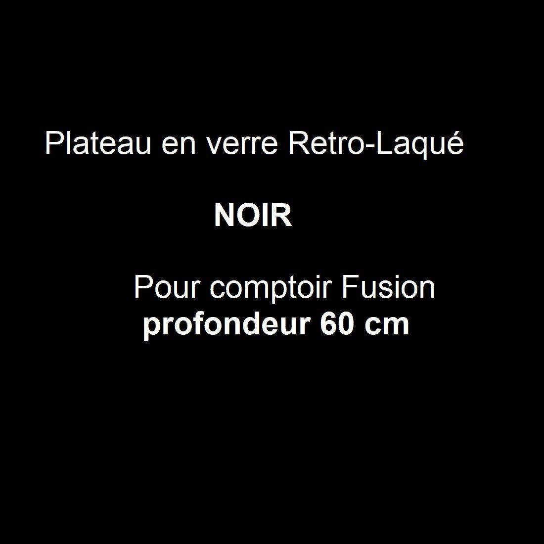 Verre rétro-laqué Noir P.60 cm