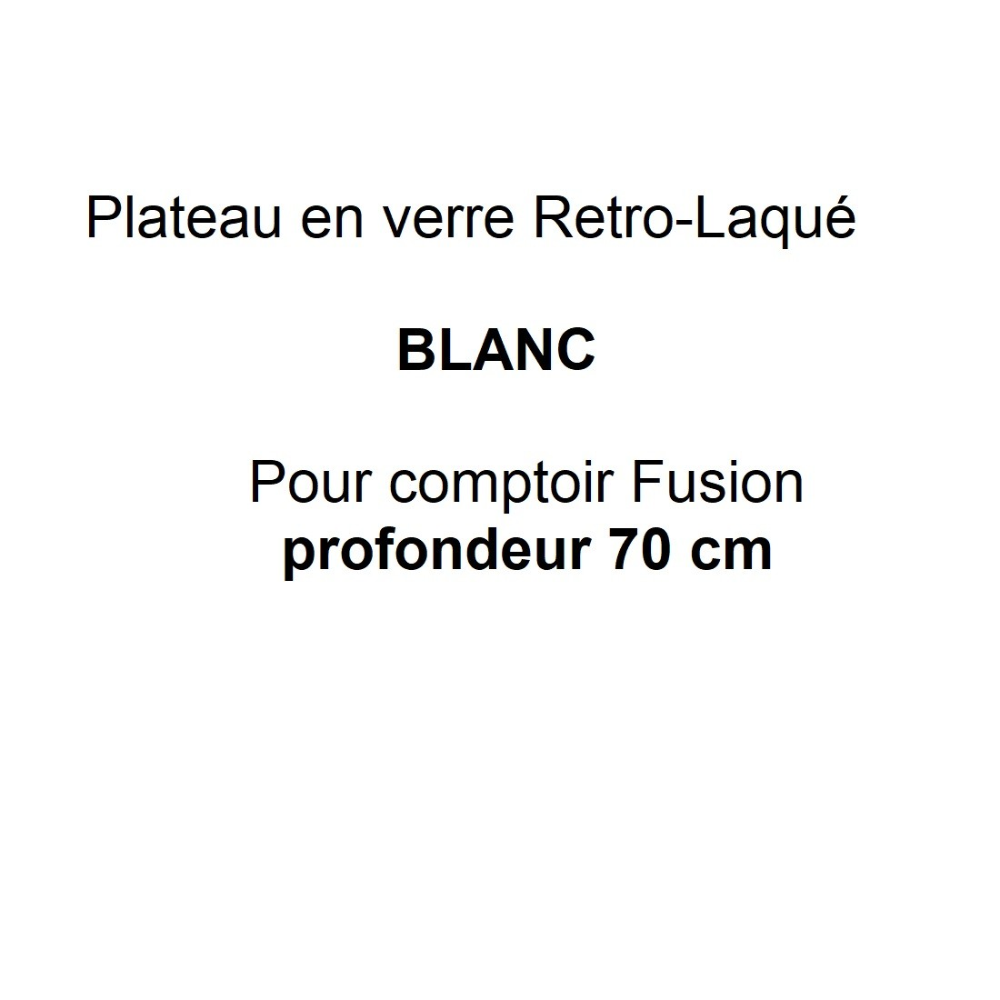 Verre rétro-laqué Blanc P.70 cm