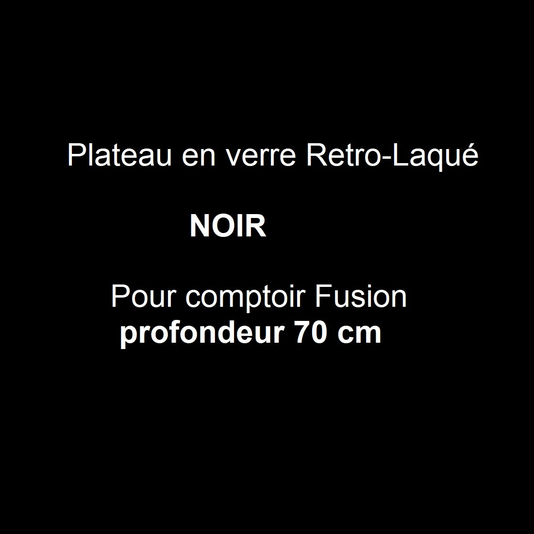 Verre rétro-laqué Noir P.70 cm